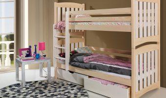 SERAFIN łóżko 2 osobowe piętrowe