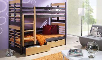 AUGUSTYN łóżko 2 osobowe piętrowe