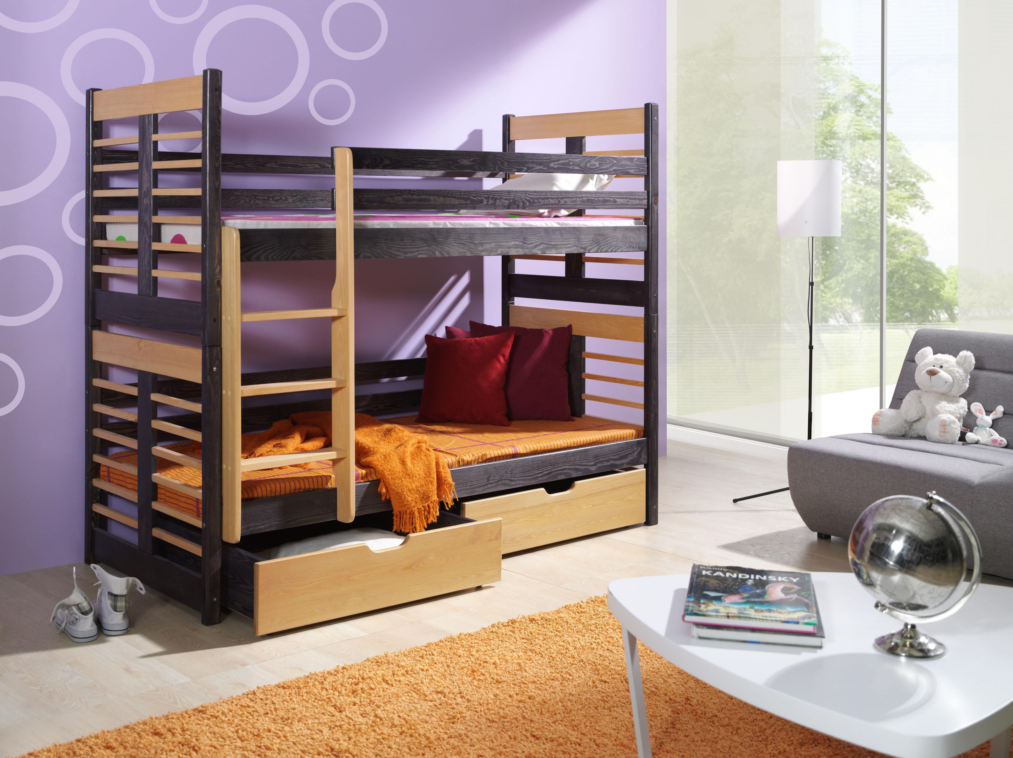 Augustyn łóżko 2 Osobowe Piętrowe Meblobed