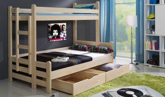 BENIAMIN II łóżko 3 osobowe piętrowe