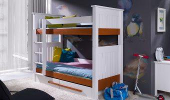CASIMIR łóżko 2 osobowe piętrowe