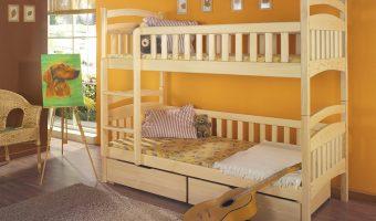 DOMINIK łóżko 2 osobowe piętrowe
