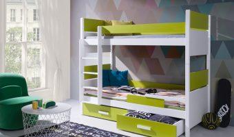 LAZARO łóżko 2 osobowe piętrowe