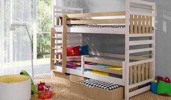 MIROMIR łóżko 2 osobowe piętrowe