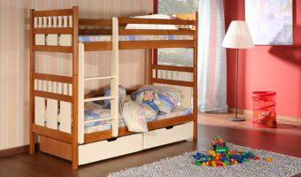 OLIWIER łóżko 2 osobowe piętrowe