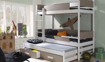 QUATRO łóżko 3 osobowe