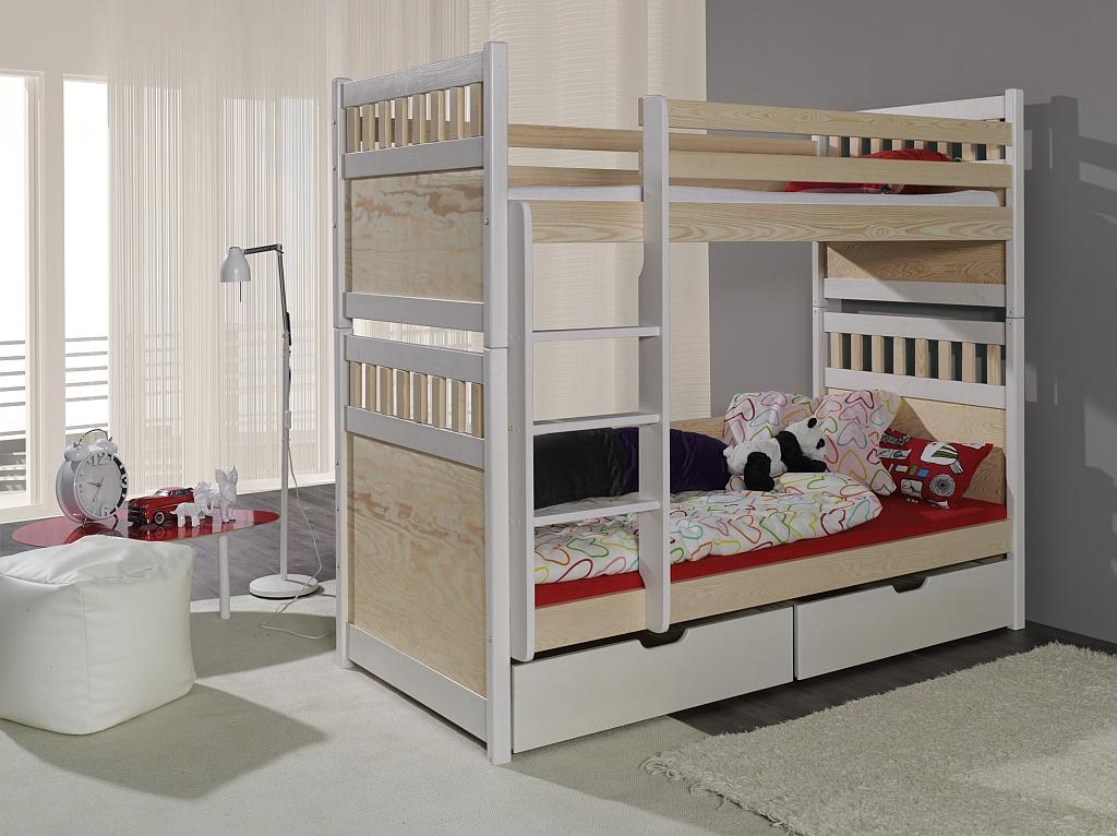 Salomon łóżko 2 Osobowe Piętrowe Meblobed