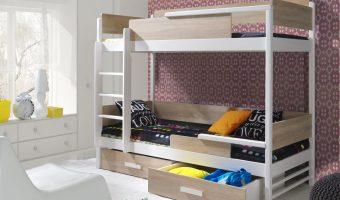 TRES łóżko 2 osobowe piętrowe