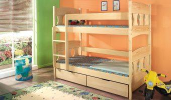 WIKTOR łóżko 2 osobowe piętrowe