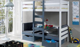 BARTOSZ łóżko 2 osobowe piętrowe