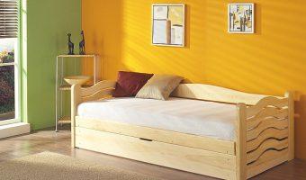 OLGA łóżko 1 osobowe z pojemnikiem