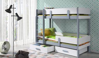 ETTORE łóżko 2 osobowe piętrowe
