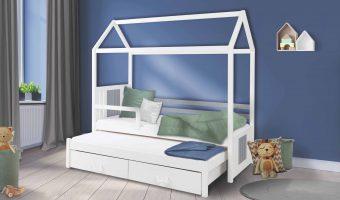 JONAS II łóżko 2 osobowe z barierką – DOMEK