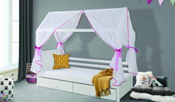 ROZALIA łóżko 1 osobowe – domek