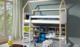 OLIMPIA łóżko 1 osobowe, antresola