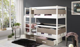 RUBEN łóżko 2 osobowe piętrowe